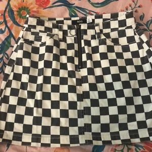 Cute checkers skirt!